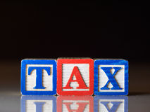 Tax concept Royalty Free Stock Photos