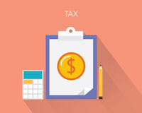 Tax concept flat  illustration.  Stock Images