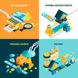Tax Concept Icons Set Royalty Free Stock Photo