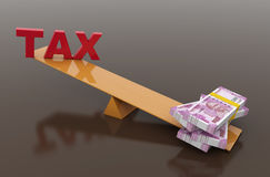 Tax Concept with Indian Currency Stock Photography