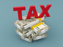 Tax Concept with New Indian Currency. 3D Rendered Image Royalty Free Stock Photography