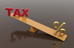 Tax Concept with percentage symbol Stock Images