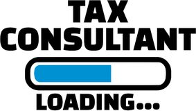 Tax consultant Loading. Occupation vector Royalty Free Stock Photo
