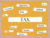 Tax Corkboard Word Concept Royalty Free Stock Photography