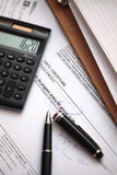Tax counting Stock Photography