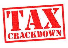 TAX CRACKDOWN Stock Images
