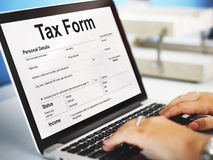 Tax Credits Claim Return Deduction Refund Concept. Tax Claim Form Application Concept stock photos