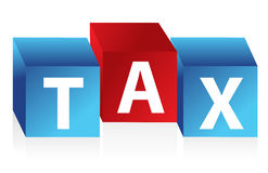 Tax cubes Stock Image