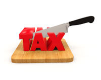 Tax Cut Concept. Isolated on white background. 3D render Royalty Free Stock Photo