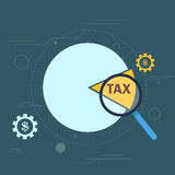 Tax cut pie graph conceptual design Royalty Free Stock Photo