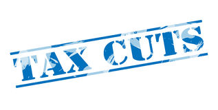 Tax cuts blue stamp Royalty Free Stock Photos