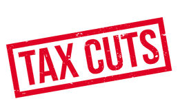 Tax Cuts rubber stamp Stock Image