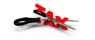 TAX CUT Royalty Free Stock Images