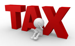 TAX. 3d people - man, person and word TAX Stock Image