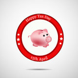 Tax Day Background. Illustration of elements for Tax Day stock illustration