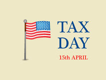 Tax Day Background. Illustration of elements for Tax Day royalty free illustration