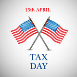 Tax Day Background. Illustration of elements for Tax Day vector illustration