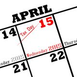 Tax day. 2015 tax day calendar icon royalty free illustration