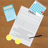 Tax day concept Royalty Free Stock Image