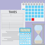 Tax day deadline Royalty Free Stock Image