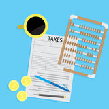 Tax day declaration flat concept Royalty Free Stock Image