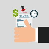Tax day design Royalty Free Stock Photo