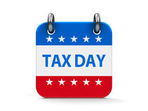 Tax day icon calendar Stock Photos