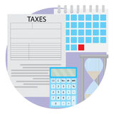 Tax day icon Stock Photography