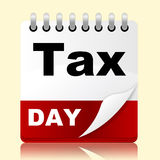Tax Day Indicates Irs Reminder And Planner Stock Photos
