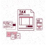 Tax day set icons. Vector illustration design Royalty Free Stock Images