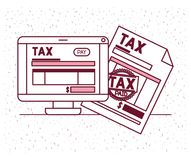 Tax day set icons. Vector illustration design Stock Image