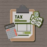Tax day set icons. Vector illustration design Royalty Free Stock Photography
