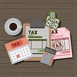 Tax day set icons. Vector illustration design Stock Images