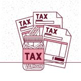 Tax day set icons. Vector illustration design Stock Photo