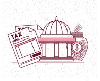 Tax day set icons. Vector illustration design Royalty Free Stock Photo
