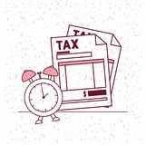 Tax day set icons. Vector illustration design Royalty Free Stock Photos