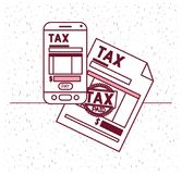 Tax day set icons. Vector illustration design Stock Photos
