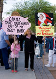 Tax Day Tea Party Phoenix, Arizona Stock Photo