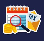 Tax day time set icons. Vector illustration design Royalty Free Stock Images