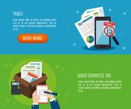 Tax day time set icons. Vector illustration design Royalty Free Stock Photos