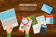 Tax day time set icons. Vector illustration design Royalty Free Stock Photography