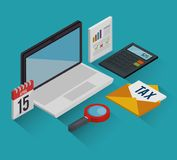Tax day time set icons. Vector illustration design Royalty Free Stock Image