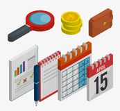 Tax day time set icons. Vector illustration design Stock Image