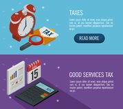 Tax day time set icons. Vector illustration design Stock Photo