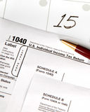 Tax day - vertical Royalty Free Stock Photography