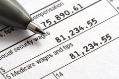 Tax Day W2 1040 Form Royalty Free Stock Photo