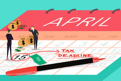Tax Deadline Concept Stock Image