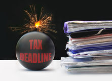 Tax deadline Stock Image