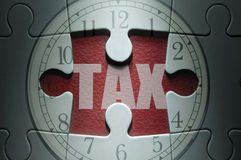Tax deadline Royalty Free Stock Image