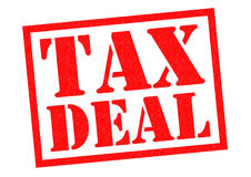 TAX DEAL. Red Rubber Stamp over a white background Royalty Free Stock Photo